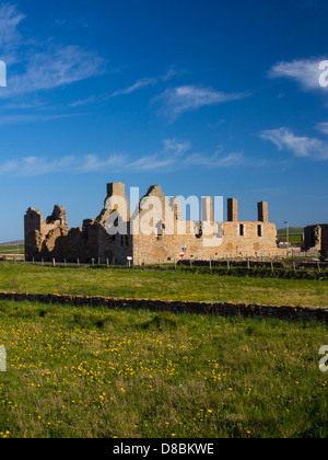 Scotland, Orkney Islands, Mainland Orkney. Earl's Palace in Birsay, - Stock Photo