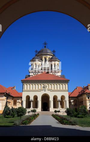 coronation cathedral of the Romanian Orthodox Church, Alba Iulia, Balgrad, Transylvania, Romania. - Stock Photo