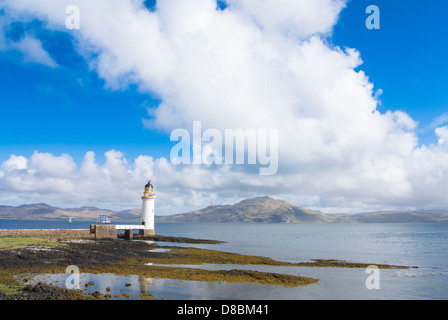 Rubha Nan Gall Lighthouse, North of Tobermory on the isle of Mull - Stock Photo