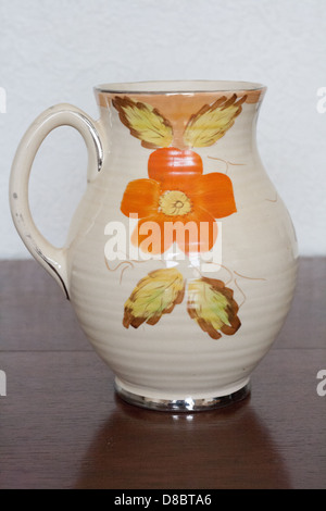 Art Deco Ceramic Jug Vase Made By Arthur Wood Of Burslem Stock Photo
