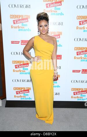New York, USA. 23rd May 2013. Adrienne Bailon at arrivals for 2013 Fun Fearless Latina Awards, Hearst Tower, New - Stock Photo