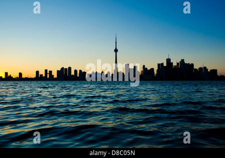 Toronto skyline from central island - Stock Photo