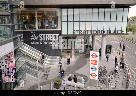 Westfield Shopping Centre at Stratford City in the east end of London - Stock Photo