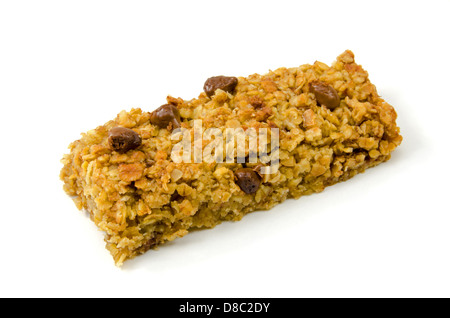 Delicious oaty chocolate flapjack - Stock Photo