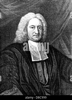 EDMUND HALLEY (1656-1742) English astronomer and mathematician - Stock Photo