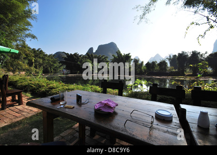 Li River, Southern China from Guilin to Yangshuo - Stock Photo