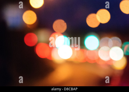 Glowing abstract background.of multi coloured rings or circles - Stock Photo