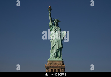 The Statue of Liberty on Liberty Island in the Hudson River in New York, NY, USA, February 14, 2013. (Adrien Veczan) - Stock Photo