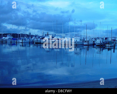 Boats and reflections royal perth yacht club. - Stock Photo