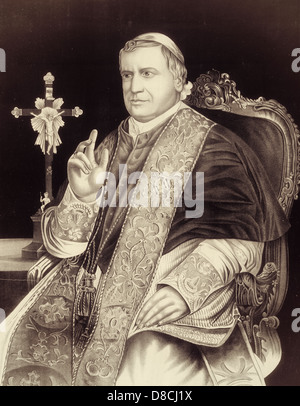 Pope Pius IX - Longest reigning Pope in the Catholic Church, serving from 1846 to 1878 - Stock Photo