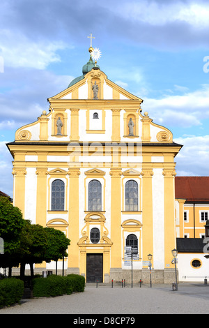 The Place around the Chapel of the Miraculous Image in Altoetting is a famous place of pilgrimage, here the church - Stock Photo