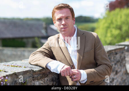 Actor Damian Lewis officially unveils the newly renovated Mansion at Aberglasney Gardens in Carmarthenshire, West - Stock Photo