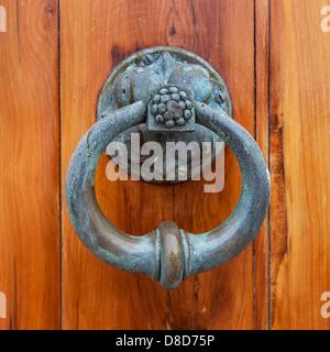 ... Antique Door Pull Or Door Knocker On The Front Cedar Door Of St.  Peteru0027s Anglican