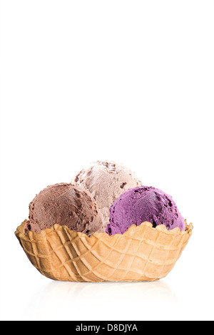 ice cream in waffle - Stock Photo