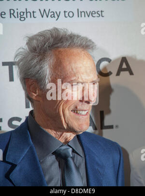 New York, USA - April 27, 2013:  Actor Clint Eastwood attends 2013 Tribeca Film Festival at BMCC Tribeca on April - Stock Photo
