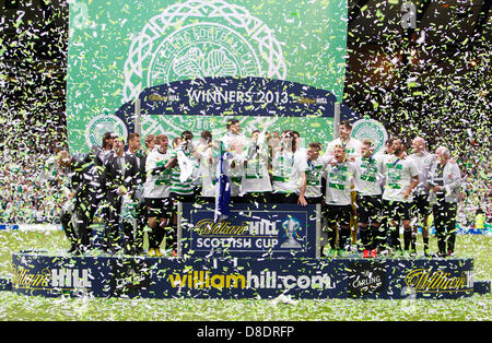 Glasgow, Scotland. 26th May, 2013.       Celtic FC Scottish Cup Winners of the William Hill Scottish Cup Final  - Stock Photo
