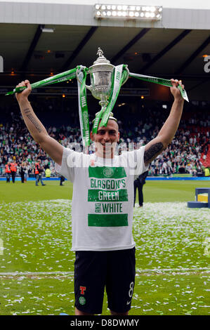 Glasgow, Scotland, UK. Sunday 26th May 2013.  during the Hibs v Celtic William Hill Scottish Cup Final at Hampden - Stock Photo