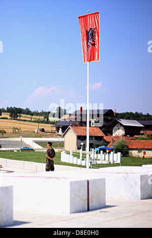 graves of family jashari at national museum in drenica valley of Kosovo - Stock Photo