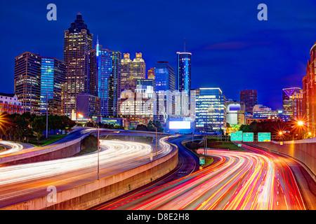 Downtown Atlanta, Georgia, USA skyline. - Stock Photo
