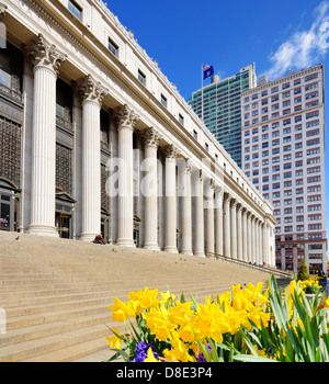 James Farley Post Office April in New York, NY. - Stock Photo