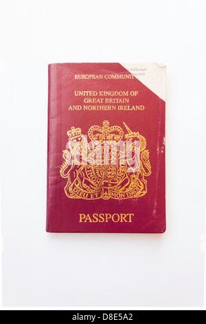 European Community red British Passport expired 2006 - Stock Photo