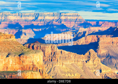 View at sunrise from South Kaibab Trail, Grand Canyon, Arizona, USA - Stock Photo