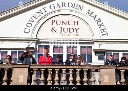The Punch and Judy Pub, Covent Garden, London, England - Stock Photo