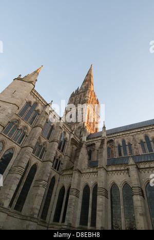 Salisbury Cathedral Wiltshire, England, United Kingdom, Europe - Stock Photo