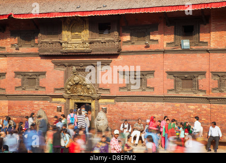 Patan Museum, Durbar Square, Patan (UNESCO World Heritage Site), Kathmandu, Nepal - Stock Photo