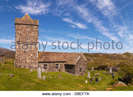 St Clements Church at Rodel, Isle of Harris, Outer Hebrides, Scotland - Stock Photo