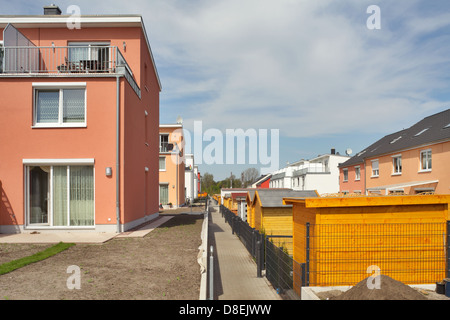 Berlin, Germany, newly built townhouses in the sea Kindel - Stock Photo