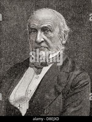William Ewart Gladstone, 1809 –1898. British Liberal statesman and four times Prime Minister of the United Kingdom. - Stock Photo