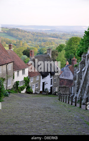 Gold Hill, Shaftesbury, Dorset, England, United Kingdom - Stock Photo