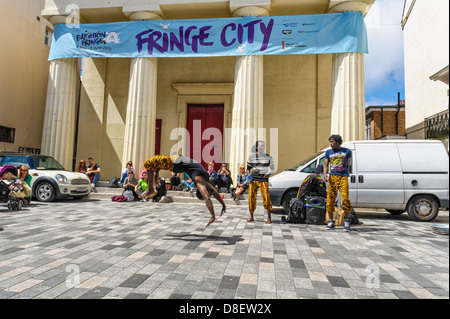 Performers at the Brighton Festival Fringe  on 16/05/2013 in Brighton. Picture by Julie Edwards - Stock Photo