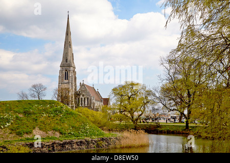 St. Alban's Church,also known as English Church, is an Anglican church in Copenhagen, Denmark. It was built from - Stock Photo