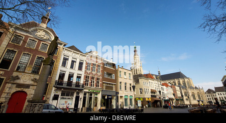 the Grote Markt main square in the historic city centre of Breda, Noord Brabant, the Netherlands - Stock Photo