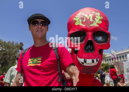 May 25, 2013 - San Diego, California, U.S. - San Diego area high school teacher STEVE HENDRICK is among the thousands - Stock Photo