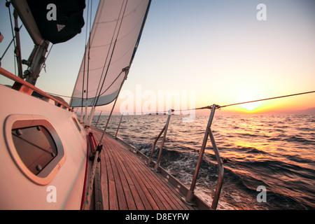 Sailing regatta in Greece - Stock Photo