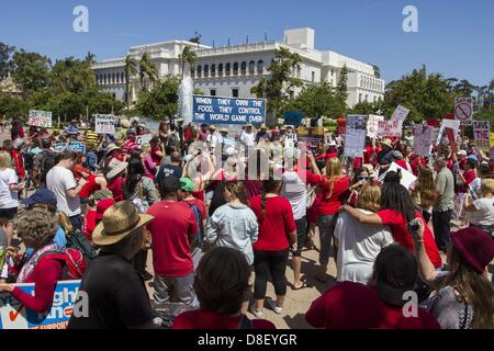 May 25, 2013 - San Diego, California, USA - May 25, 2013 - San Diego, California, USA - Thousands of people gathered - Stock Photo