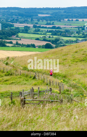 The Cherhill Downs. Wiltshire, UK. - Stock Photo