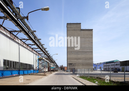 Berlin, Germany, partially disassembled factory buildings - Stock Photo