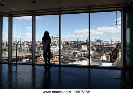 View looking North East over Glasgow city centre from the viewing platform in the Lighthouse building, Scotland, - Stock Photo