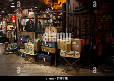 Suitcases at camden market, london - Stock Photo