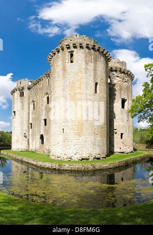 Nunney castle, Somerset, England, UK - Stock Photo