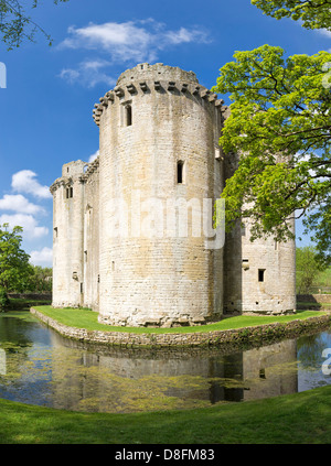 Nunney Castle, Somerset, England, UK - Stock Photo