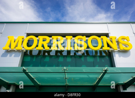 Morrisons supermarket sign / logo - Stock Photo