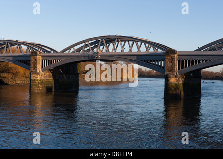 Barnes Railway Bridge Barnes London Stock Photo
