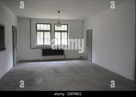 Dachau Concentration Camp. Nazi camp of prisoners opened in 1933. Waiting room. Germany. - Stock Photo