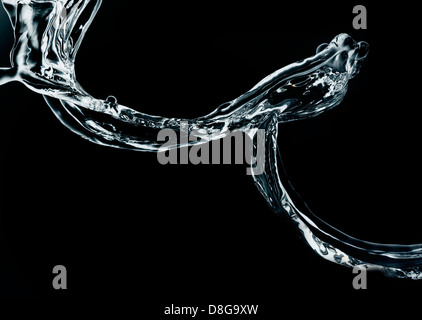 Water in motion. high speed capture. - Stock Photo