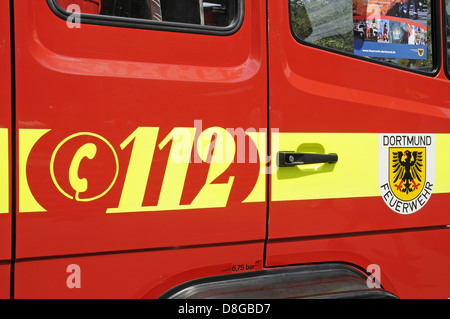 112 emergency number - Stock Photo